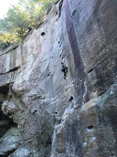 Rock Climbing Photo: mid-route
