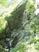 Rock Climbing Photo: Base of the main wall on Stinger Wall