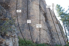Nice vertical edging routes with safe bolting