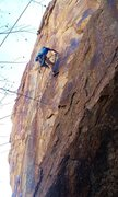 Rock Climbing Photo: Mike Anderson putting in the bolts on what would b...