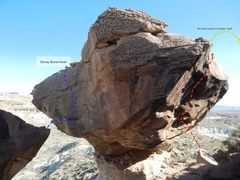 Rock Climbing Photo: Exit = Yellow Possible New Line = Red Denay Brave ...