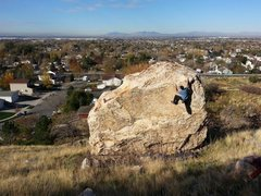 Rock Climbing Photo: Suburban bouldering in Ogden.