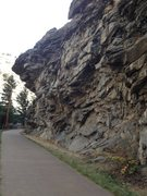 Rock Climbing Photo: Left side of the crag.