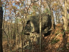 The Messenger boulder.  Potential for a few more lines on all sides of the boulder.