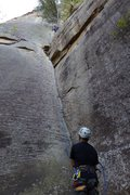 """Rock Climbing Photo: Up first """"pitch"""" of Roadside with 2 piec..."""