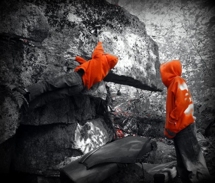 Isak Robichaud's FA of the Tale of the Lost Mountaineer, V2.