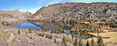 Rock Climbing Photo: Silver Lake from top of sector 1