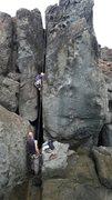Rock Climbing Photo: Paolo on the move...