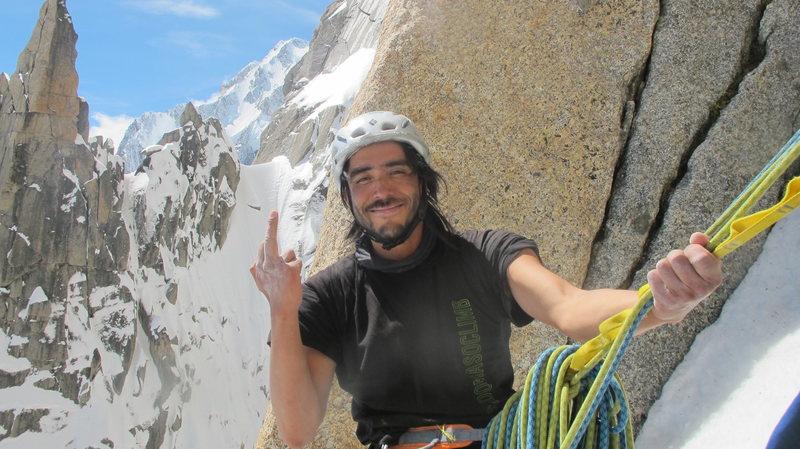 Rock Climbing Photo: climbing on grand capucin