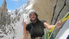 climbing on grand capucin