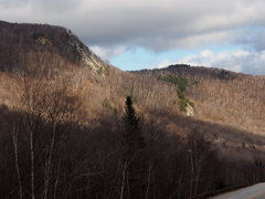 Rock Climbing Photo: Upper & Lower Primate Cliffs, looking East on Rt 1...