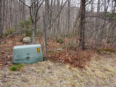 Rock Climbing Photo: The electric box, 0.45 miles west of the White Mtn...