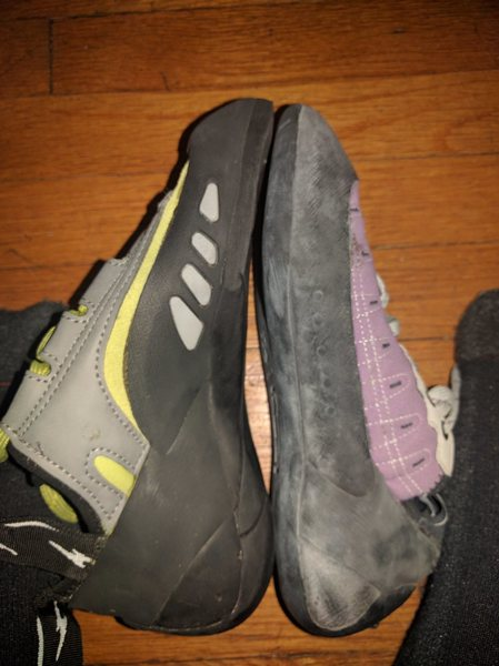 Rock Climbing Photo: Comparison to other evolv shoes.