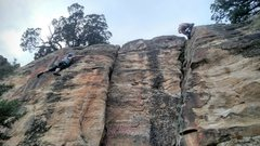First experience outdoor climbing!