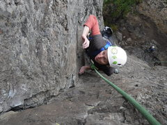 Rock Climbing Photo: The upper dihedral