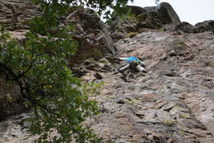 Rock Climbing Photo: Upper corner where the difficulty eases off.