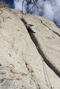 Rock Climbing Photo: P2 offwidth