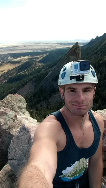 Me at the top of Zig Zag on the First Flat Iron in Boulder, CO