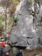 Rock Climbing Photo: The bottom of Montezuma's Toe.