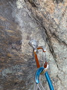 Rock Climbing Photo: First pro bolt on Idiot Wind after replacement.