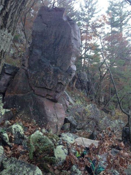 Rock Climbing Photo: Climb the right arete.