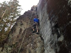 Rock Climbing Photo: you can just hike up above the bridge and top rope...