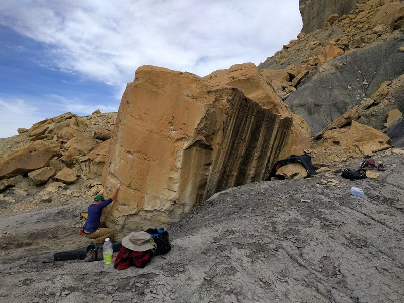 Rock Climbing Photo: Eli starting Floor Yoga, which is the first proble...