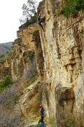 Rock Climbing Photo: Matt Rutkowski making the moves through the black ...