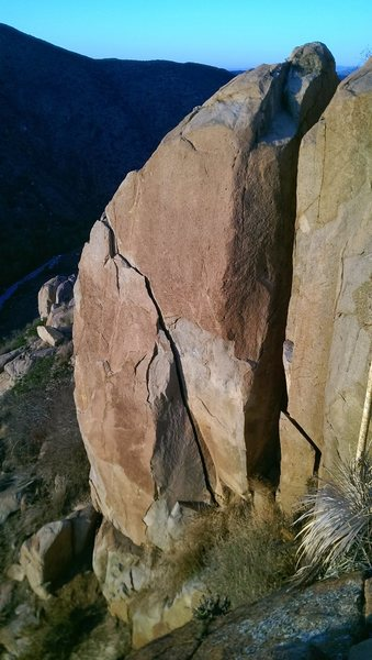 Rock Climbing Photo: View from above.