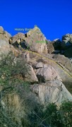 Rock Climbing Photo: A view of the whole route