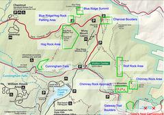 Rock Climbing Photo: The main climbing areas of Catoctin Mountain Park