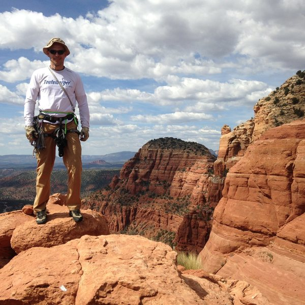 Rock Climbing Photo: 1st tower, sedona, 2015