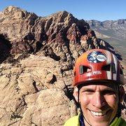 Rock Climbing Photo: crimson chrysalis summit selfie, 2015