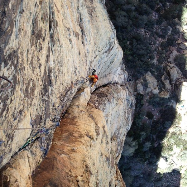 Rock Climbing Photo: partner on early pitches of crimson chrysalis