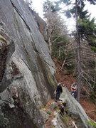 Rock Climbing Photo: Climbers check out Lower Patina Wall - it was a bi...