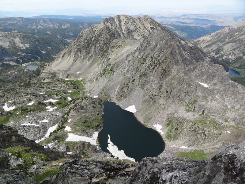 A look off the back-side (North) to Spanish Lakes.  The blaze mountain is in the center.