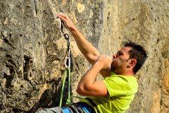 Rock Climbing Photo: Crux: first test