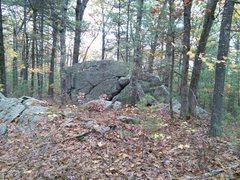 Rock Climbing Photo: Water Buffalo boulder as seen from the trail, comi...