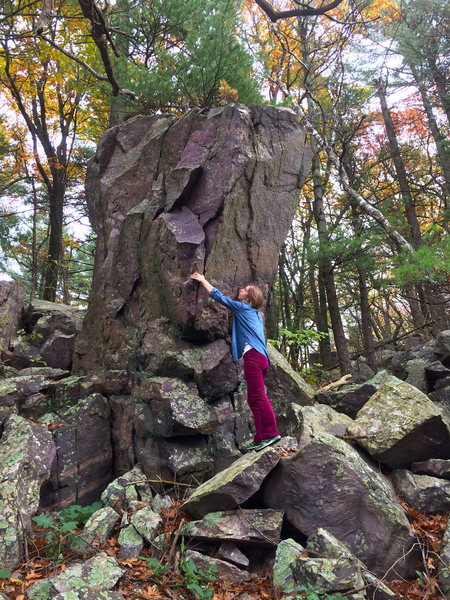Rock Climbing Photo: A better view of the problem.  Climb and compress ...