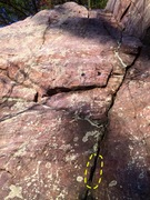 Rock Climbing Photo: Start in finger crack and climb straight up