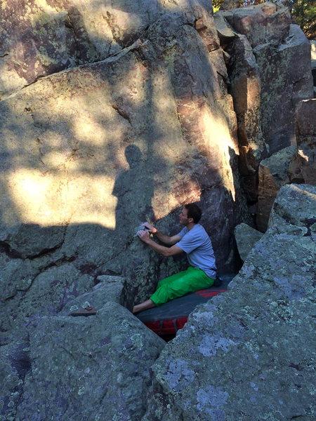 Rock Climbing Photo: Sit start