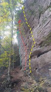 "Rock Climbing Photo: The ""5.11s Wall"" at Real Deep End Yellow..."