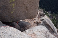 Rock Climbing Photo: The entrance to crazy belly crawl.