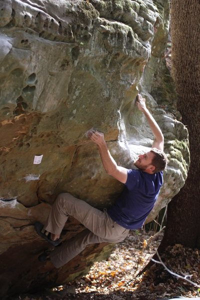 Rock Climbing Photo: Making moves after cruising from the rad sloper.