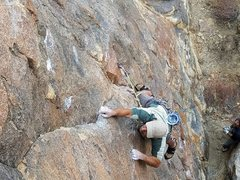 Rock Climbing Photo: FA. The Blackening 5.10c/d
