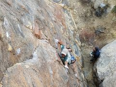 Rock Climbing Photo: 1st crux The Blackening