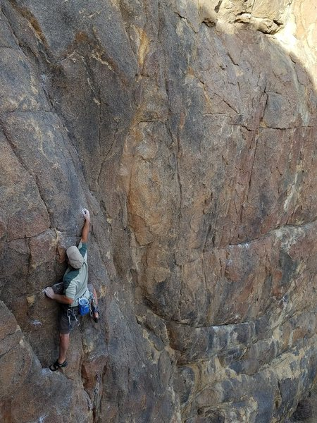 Rock Climbing Photo: Starting the 2nd crux of The Blackening Photo: Mik...