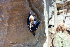 Rock Climbing Photo: Working up the Worm