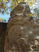 Rock Climbing Photo: Michael is looking strong on his redpoint attempt ...