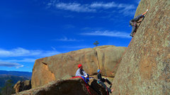 Rock Climbing Photo: Second pitch of Trails of Tropical Lotions.